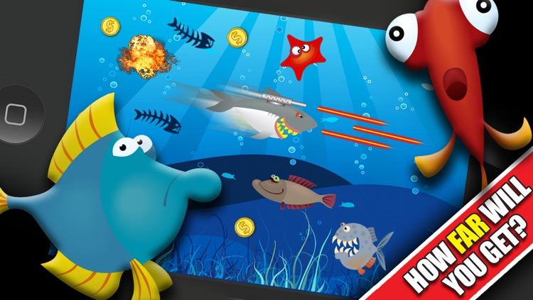 Shark Attacks! FREE : Hungry Fish Revenge Laser Shooting Racing Game - By Dead Cool Apps screenshot-4