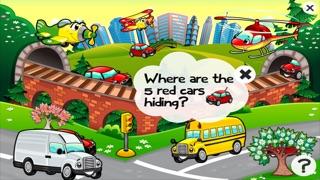 Auto-Lernspiel für Kindergarten, Vorschule und Schule: Spiele, Übungen, Puzzle und Lernen für Kinder von 2-5 und die Fahrzeuge der Stadt wie Autos, Zug, Flugzeug, Helikopter, Strassen und mehr kostenlos.Screenshot von 3