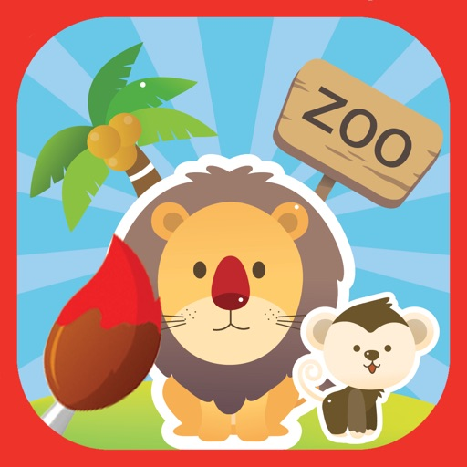 Animal Zoo Coloring Book For Kids 2014 : Free Preschool Coloring Pages Edition iOS App