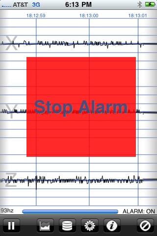 地震計 - iSeismometer ScreenShot1