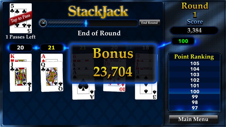 StackJack Free: Blackjack Meets Solitaire in an Arcade Casino Card Game