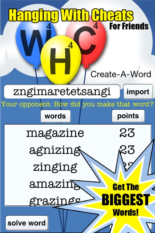 #1 Hanging With Cheats For Friends ~ Best Hanging Word Finder Cheat For Words and Hanging Friends
