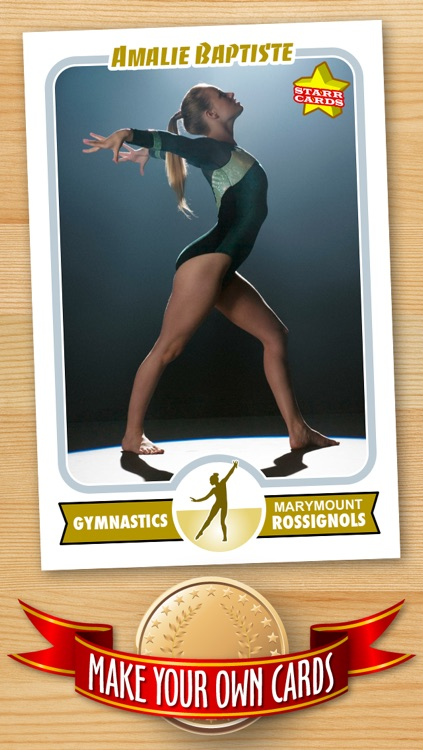Women's Gymnastics Card Maker - Make Your Own Custom Gymnastics Cards with Starr Cards