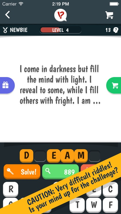 Tricky Riddles  - a highly challenging game of difficult riddles