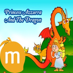 Princess Azzurra And The Dragon - Interactive eBook in English for children with puzzles and learning games