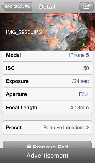 TrashExif - Metadata of photo remover with presetting screenshot three