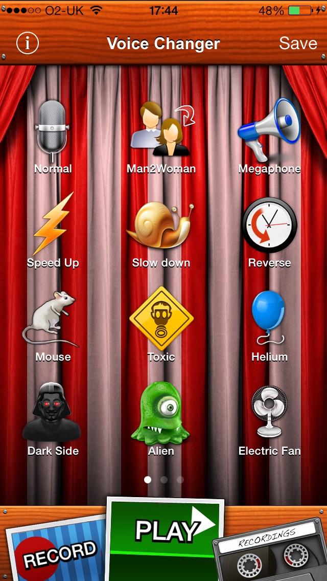 Voice Changer screenshot one