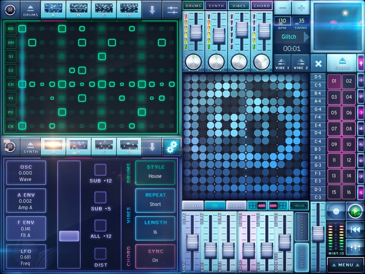MINT.io Groovebox Synth - Make House, Dubstep, Techno, Breakbeat screenshot-3