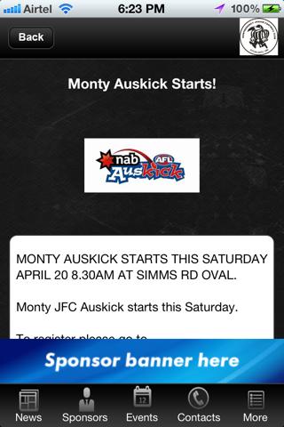 Montmorency Junior Football Club screenshot 2