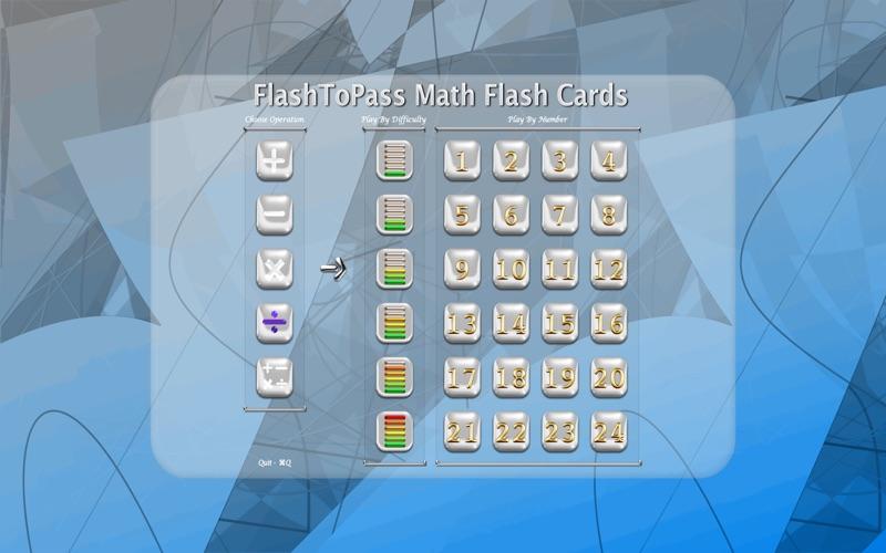 FlashToPass Math Flash Cards Screenshot