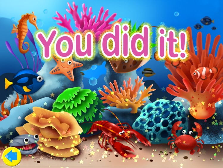 Ocean Jigsaw Puzzle 123 for iPad - Word Learning Puzzle Game for Kids screenshot-0