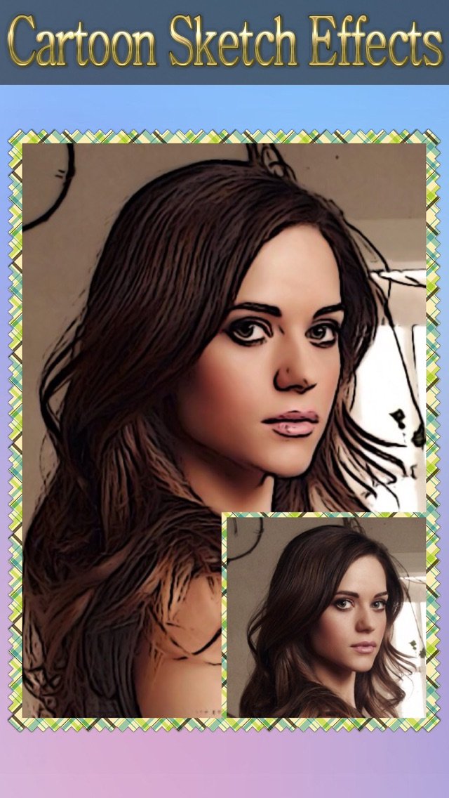 Cartoon Sketch Avatar Free - Pink Pencil & Coloring Toon Camera Photo Effects-4