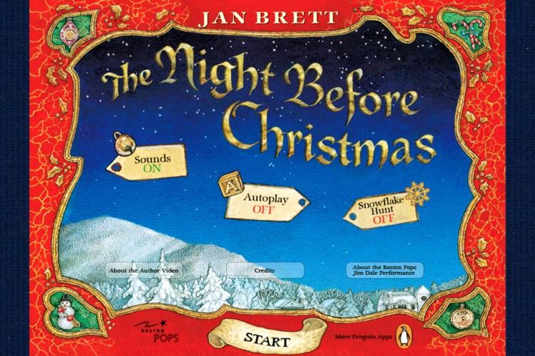 Jan Brett's The Night Before Christmas.