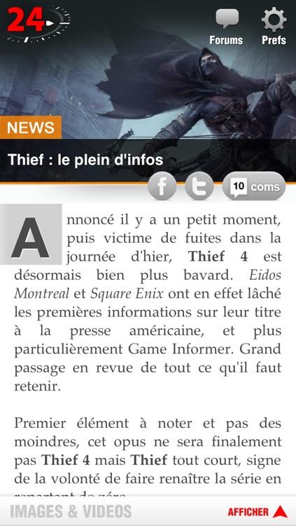 Jeuxvideo24 - Le premier magazine de jeux vidéo 100% gratuit screenshot-4