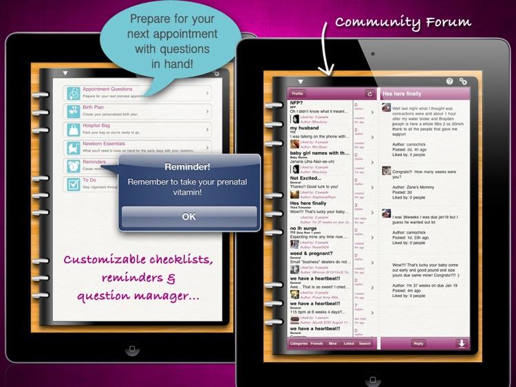 iPregnant Pregnancy Tracker HD (iPeriod's Pregnancy Companion) screenshot-3