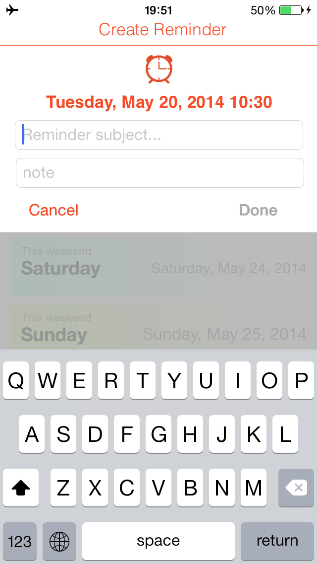 Quick Reminders: Super fast way to create a reminder screenshot two