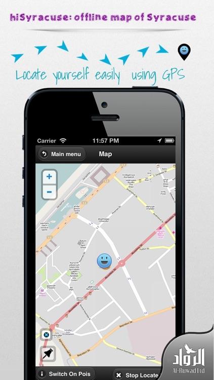 Syracuse Offline Map from hiMaps:hiSyracuse