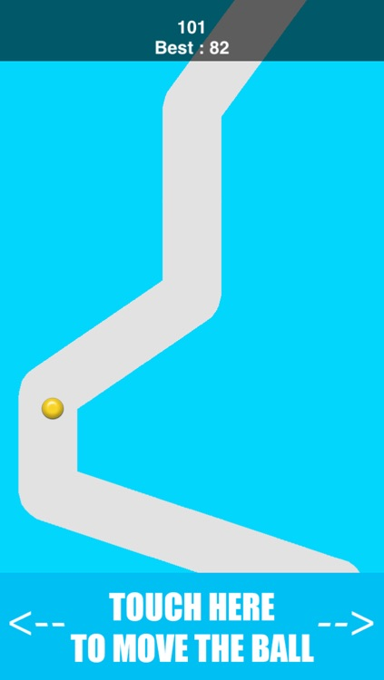 Inside The Line Path - keep the dot in the line's two walls