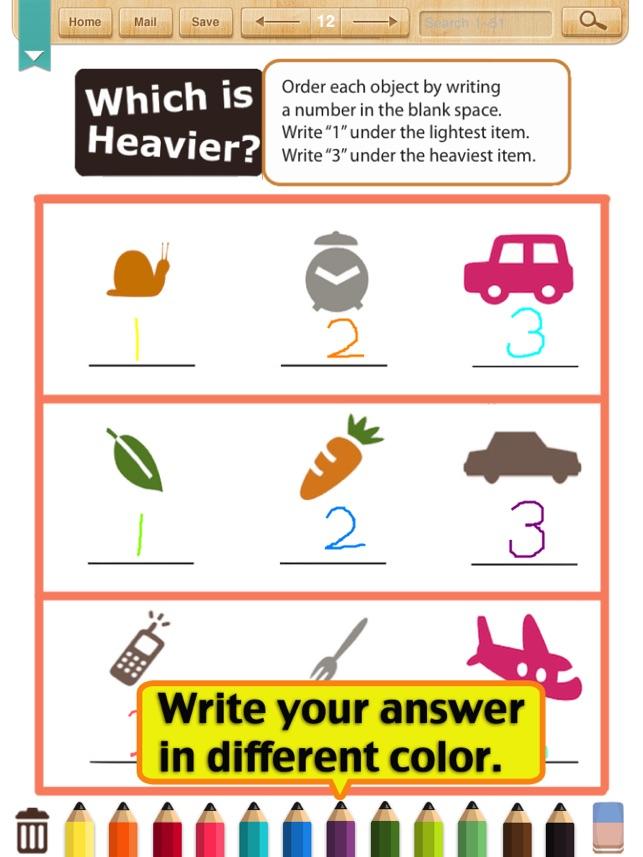 Kids Math-Measurement Worksheets(Grade 1) on the App Store