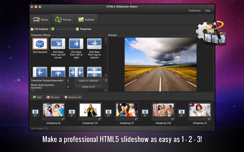HTML5SlideshowMakerFree Screenshot