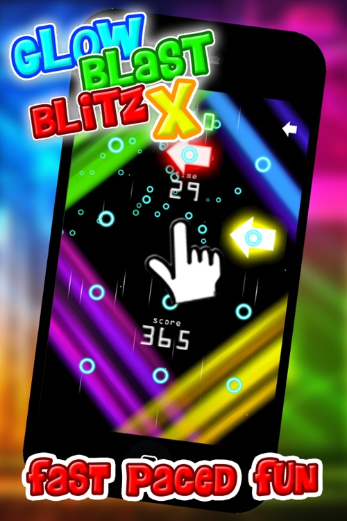 Glow Blast Blitz X - the free fast and furious training game for tap tap games