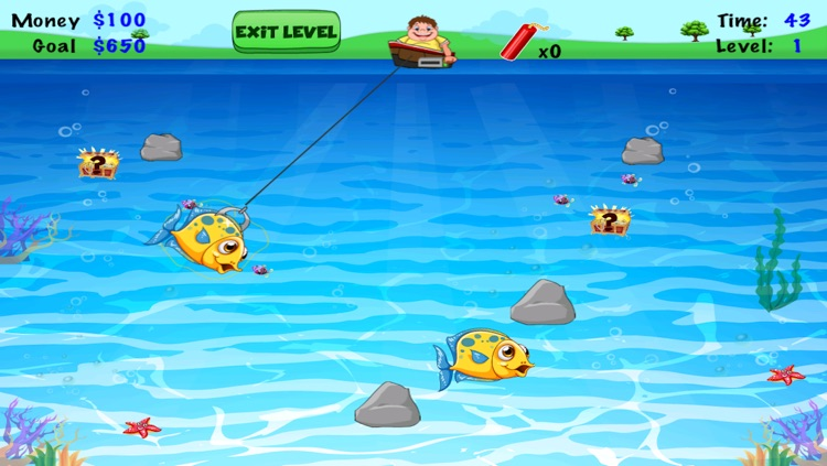A Flabby Fat Man Fisherman Frenzy FREE- Prize Fly Fishing Sea Fish Star Arcade screenshot-3