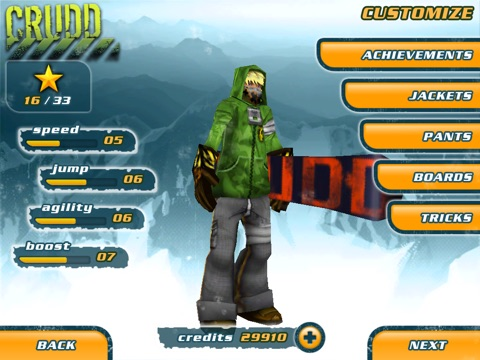 Screenshot #3 for Snowboard Hero