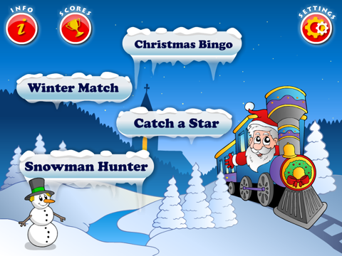 Abby Basic School Snowman Math: Challenge Educational Game for Kids by 22learn screenshot 2
