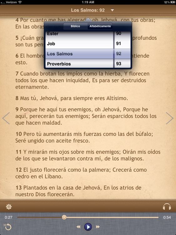 La Biblia Reina Valera para iPad con Audio screenshot-2