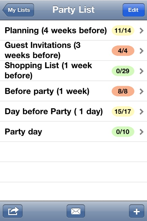 Party Planning List screenshot-1