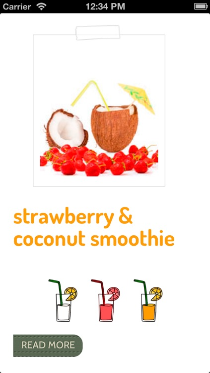 Smoothies, the Healthy Fruit Shakes screenshot-4