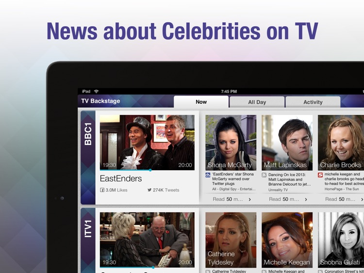 TV Backstage - Social TV for Celebrity News and Gossip FREE