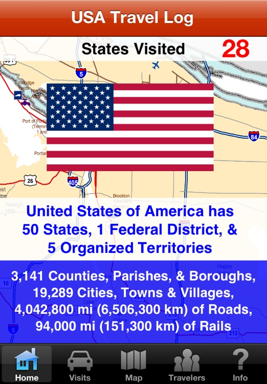 USA Travel Log • States Visited