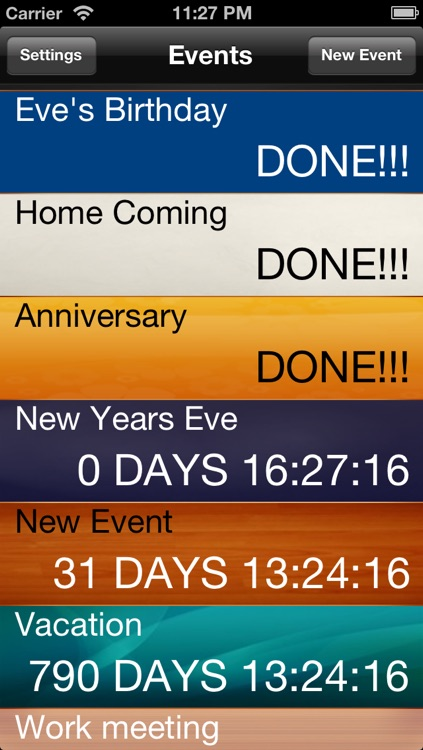 Countdown to Big Days Widget - Events Countdown
