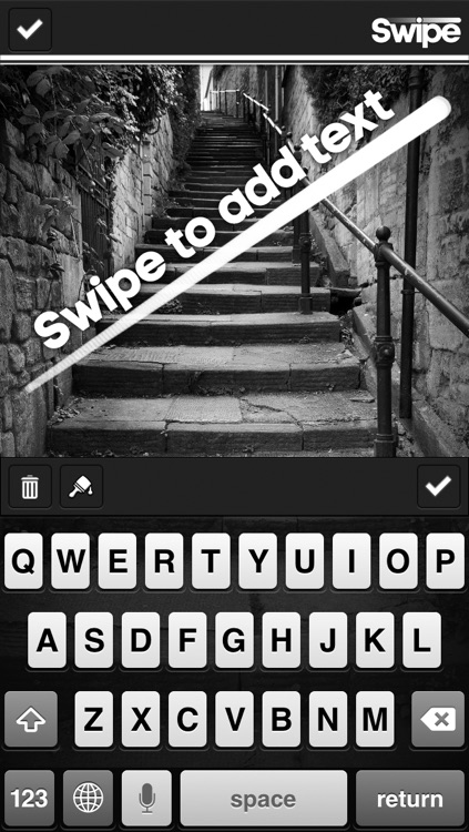 Swipe - Add Text or Captions to your Photos