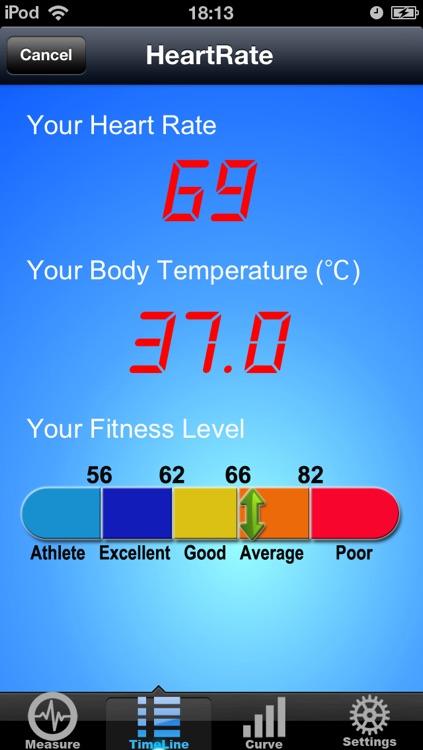 Measure Temperature & Heart Rate