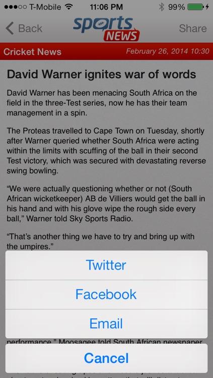 Sports News screenshot-3