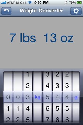 Weight Converter screenshot two