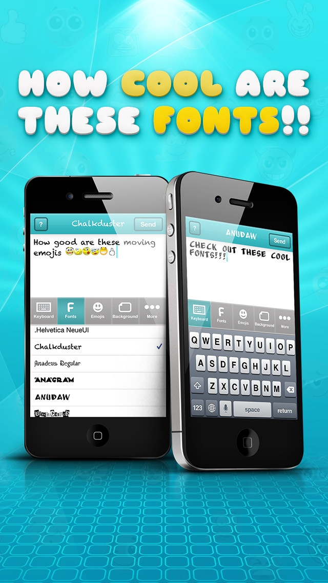 Cool Texts - Cool Fonts, Emoji 2 Stickers, Color Keyboard Symbols