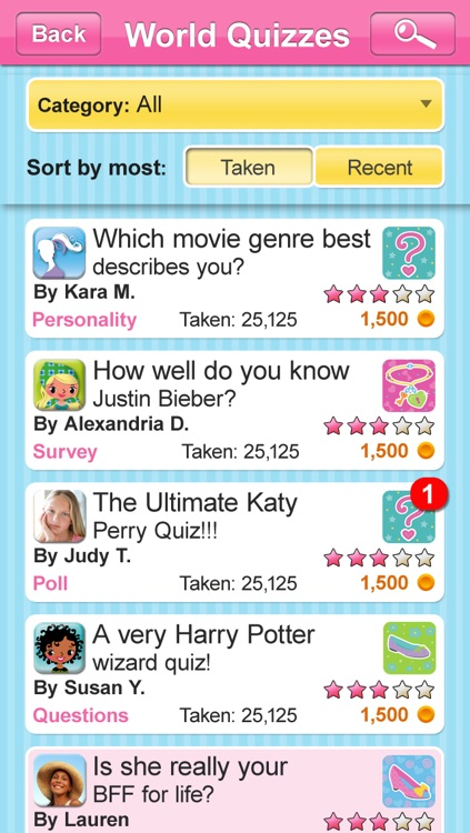 BFF Quizzes and Trivia