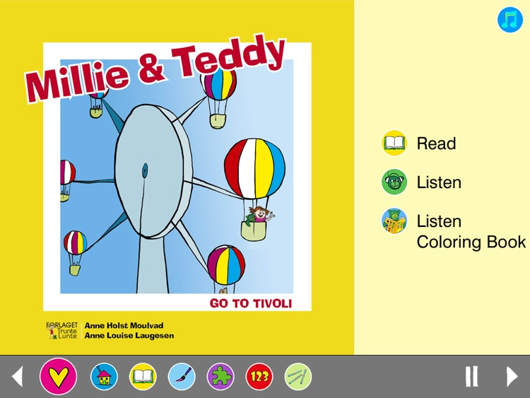 Millie & Teddy children's books - read, play and paint