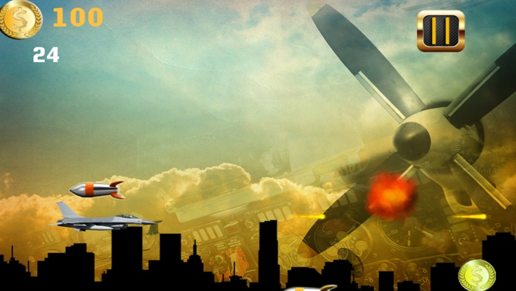 War Jet Dogfights in the Sky: Free Combat Shooting Game screenshot-4