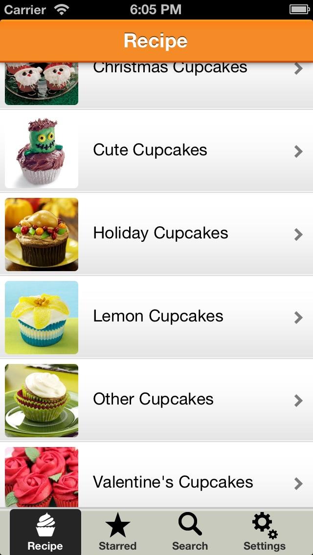 Party Cupcake Recipes 1000+ Screenshot