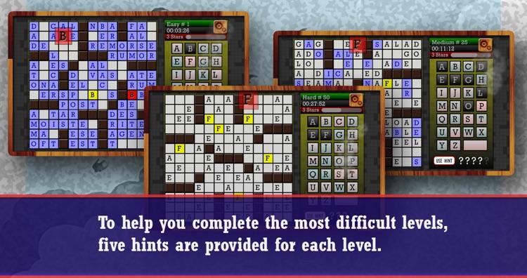 CROSSWORD CRYPTOGRAM - Clueless Crossword Puzzle screenshot-3