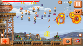 Ventivian Defender FREE - Pixel Steampunk Battles... of DOOM! screenshot three