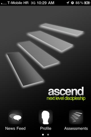 Ascend app - náhled