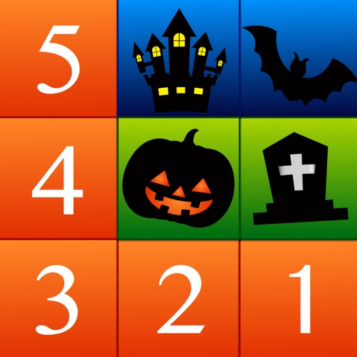 Numbers Solitaire Halloween Edition - easy-to-play card puzzle game that uses numbers.