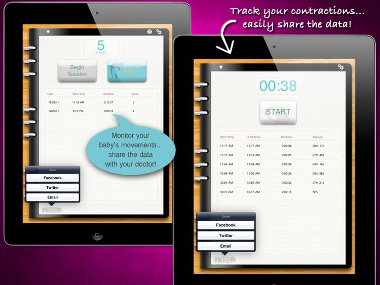 iPregnant Pregnancy Tracker HD (iPeriod's Pregnancy Companion) screenshot-4