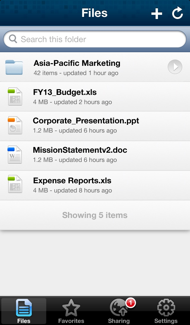 OpenText Tempo Box Screenshot