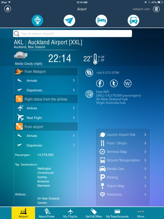 Auckland Airport +Flight Tracker air AKL New Zealand